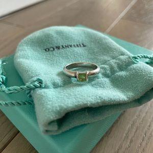 Tiffany Silver Peridot ring size 6.5